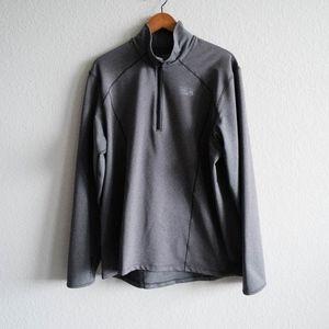 Mountain Hardwear Men's Gray Half Zip Jacket XL